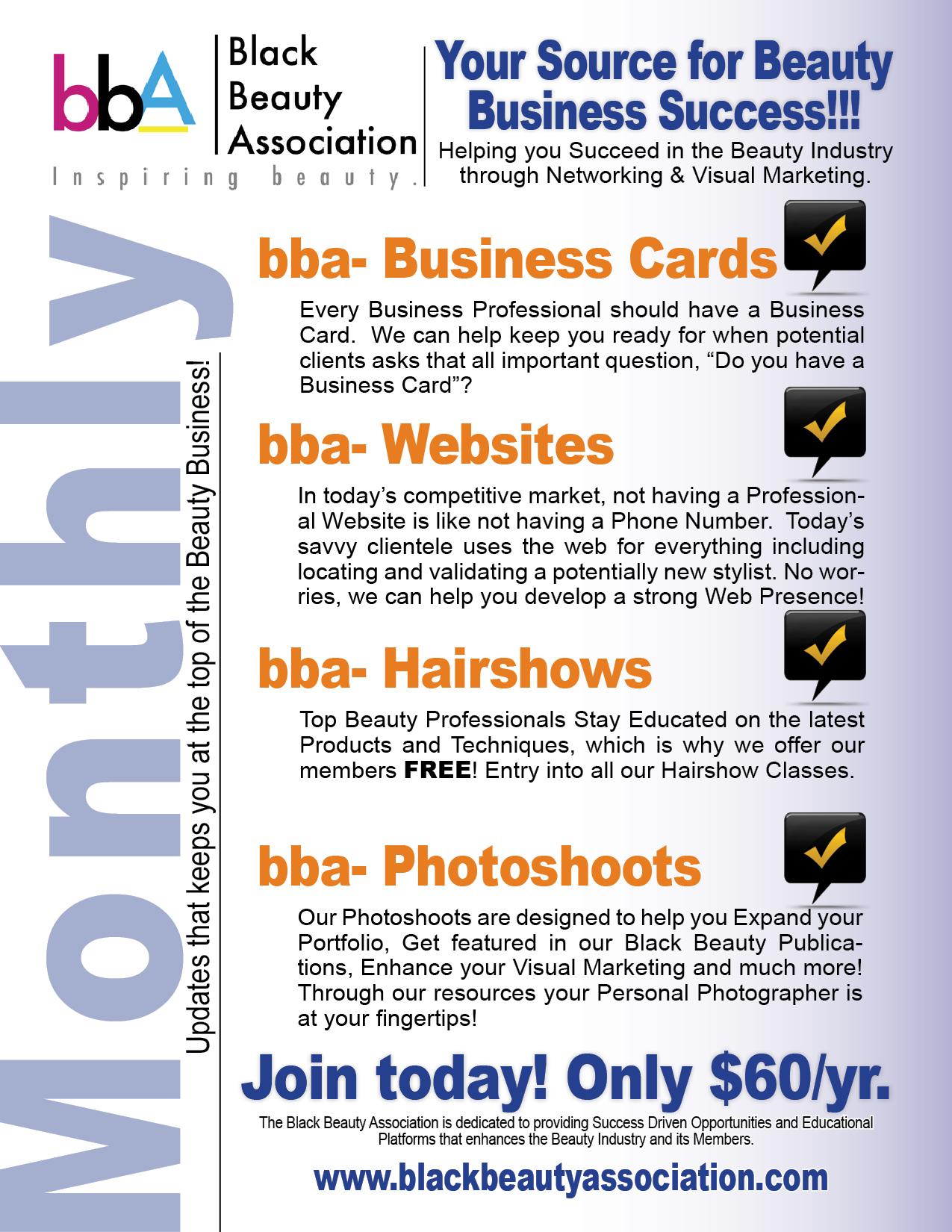 bba promo sheet